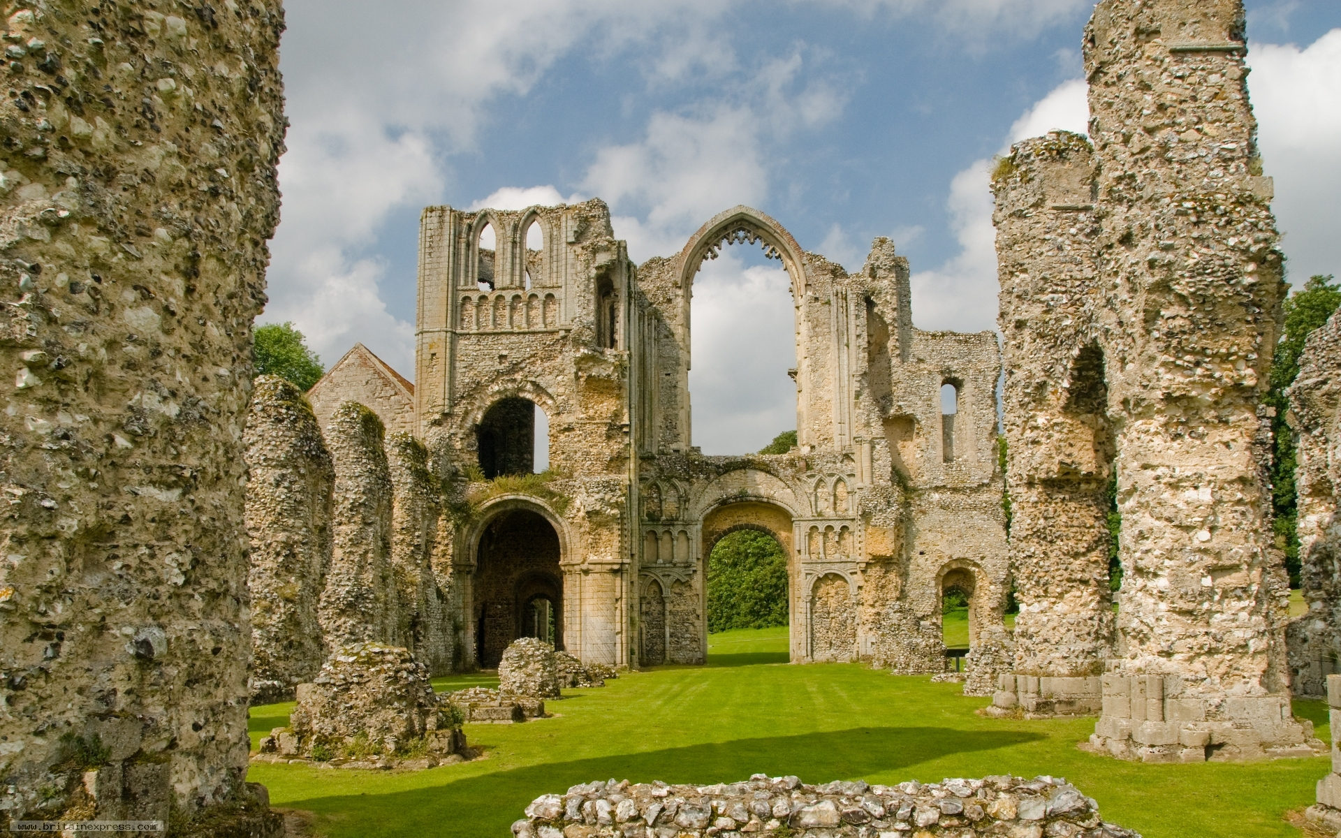 Photo of castle acre priory save this image as desktop wallpaper for your computer free voltagebd Choice Image